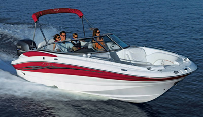 For 2008 Azure Marine Is Introducing The AZ230 OB Sport Deck A New 23 Foot Entry Into Line Of Boats Configured With Yamaha Outboard