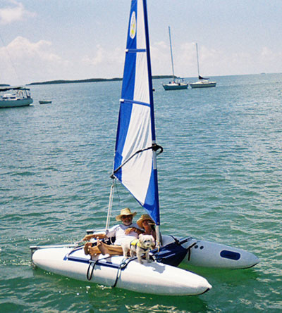 Aer 201 3 7 Inflatable Catamaran Travels Easily Without A