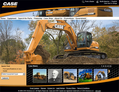Case Construction New Website